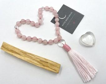 Self-Care Box, Meditation Tools, Palo Santo, Crystal Healing, Knotted Mala, Mini Japa Mala, Meditation Gift
