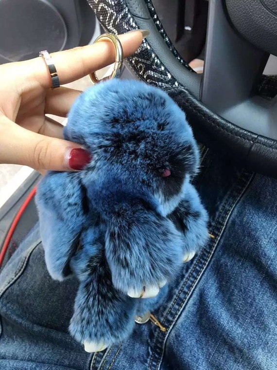 6a2e94723c3 Plush Bunny Bag Charm Puffs Bunny Keychains Purse Charm Rabbit   Etsy
