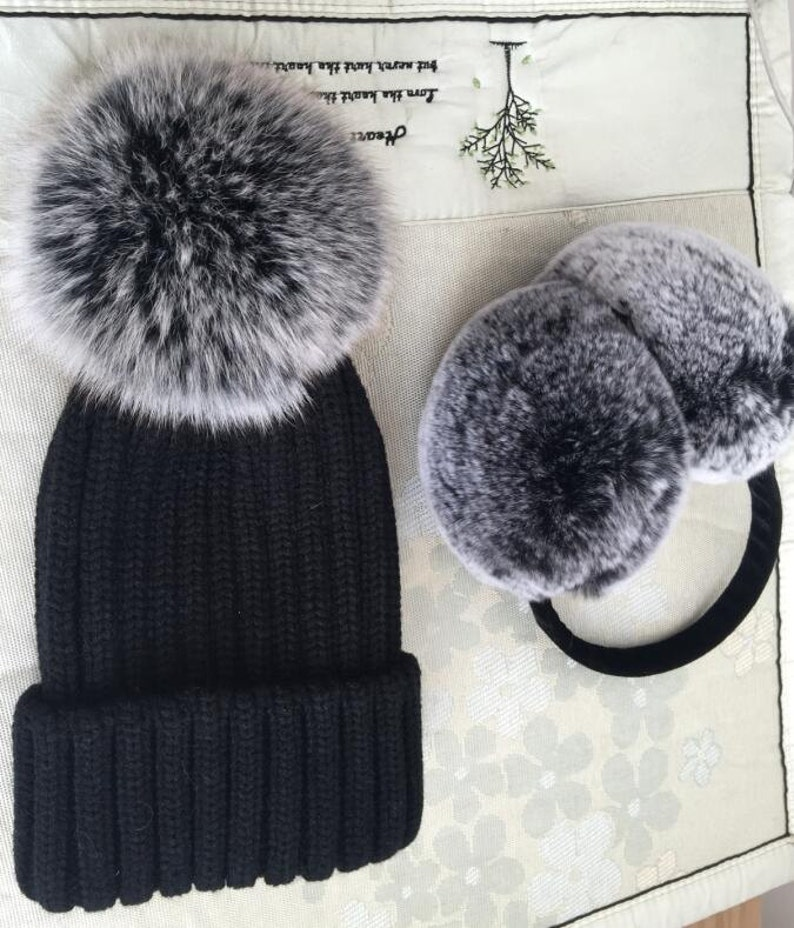 92b7c9ef3b0 Snow Gray Pompoms Hats fashion accessories for women and