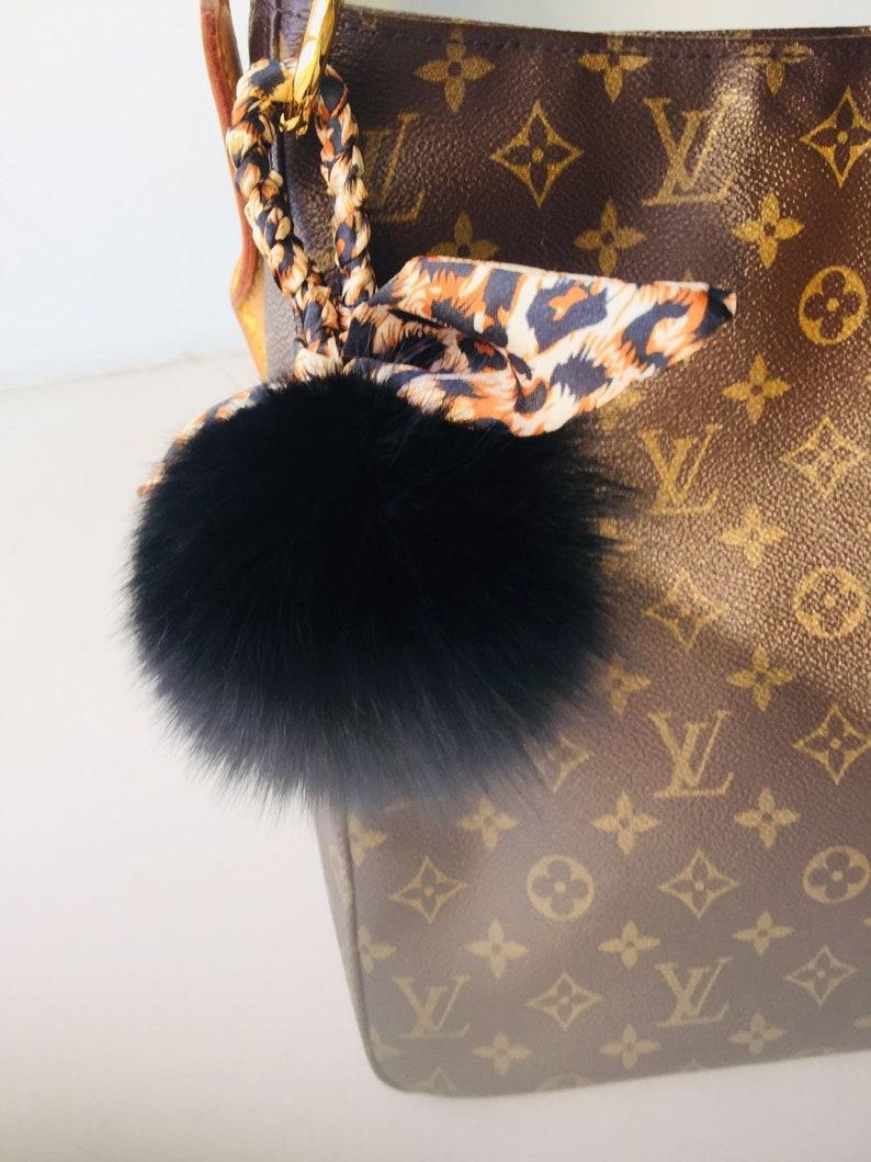 f4ba0afe8f Luxury Puffs Ball Keychain Women Handbag Charm Leopard Print