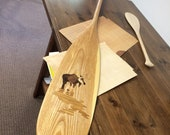 Bull Moose inlaid Canoe P...