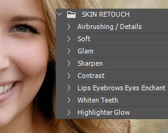 Skin Retouch Photoshop Action Set Skin Retouching Photo Editing Set Of 8 Photoshop Actions For Perfect Skin Imprefections Removal Photoshop