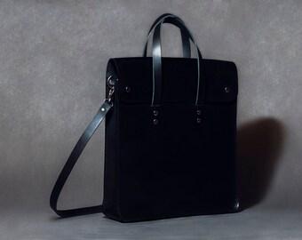 Laptop bag, leather satchel, messenger bag for men or women, briefcase iPad