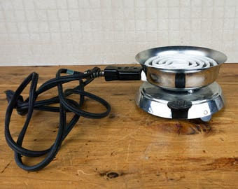 Vintage Handy Hot Coffee Maker Stove NUV Hot Plate 550W NWT with CORD