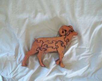 Wooden Ram Jigsaw Puzzle