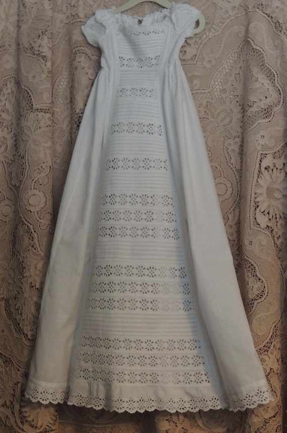Vintage Christening Gown, Antique Baptism Gown for