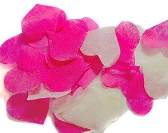 Confetti heart pink - ivory spot No - 20 handles (handmade)