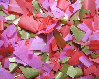 Confetti pink Red ivory - stain not - 20 handles (handmade)