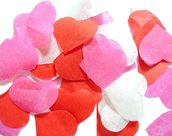 Rose Red ivory heart confetti - stain not - 25 handles (handmade)