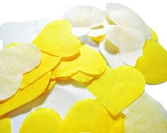 Yellow - ivory heart confetti Task No - 20 handles (handmade)