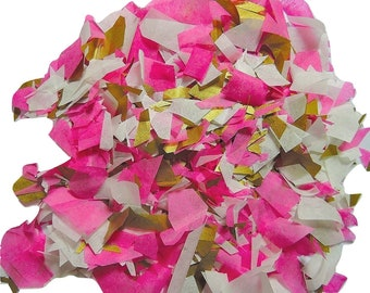 Pink ivory gold confetti - stain not - 20 handles (handmade)