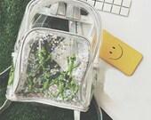 Alien Backpack | Waterproof Clear Women Backpack Star Alien Backpack Cute Laser Bag Harajuku Schoolbag For Teen Girls Casual Beach Bag