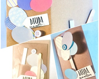 Mothers Day card kit, DIY card kit for children and adults. Make your own Mothers Day flower themed card.