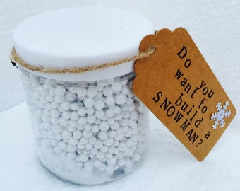 Do you want to build a snowman? fake snow, kids crafts. Make your own snowman. Jar of snow. Make 2D or 3D snowman