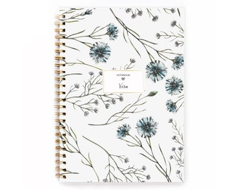 2021-2022 Planner, Personalised Planner, Weekly Planner, A5 Planner, 2022 Diary, 12 month Planner, 2021-2022 Diary, Watercolor Navy Planner