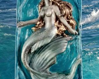 Mermaid Soap,  Siren Soap, Novelty Soap, Ocean Breeze.