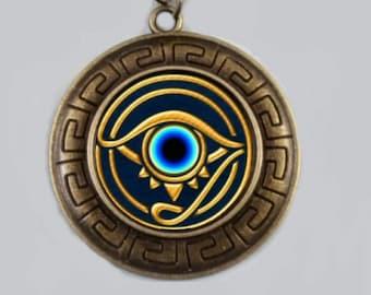 Eye of horus pendant iridescent swarovski crystal charm egyptian eye of horus eye of ra pendant egyptian eye of horus necklace ancient egyptian eye of horus pendant mozeypictures Image collections