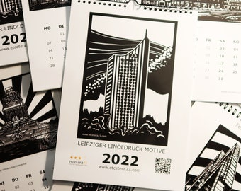 Leipzig Linoledruck Motifs Calendar 2022 - limited edition