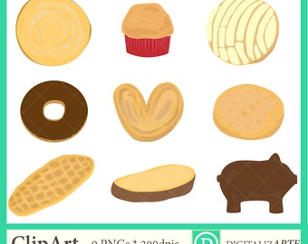 Conchitas 8 Clipart Set Pan Dulce Mexican Pastries Etsy