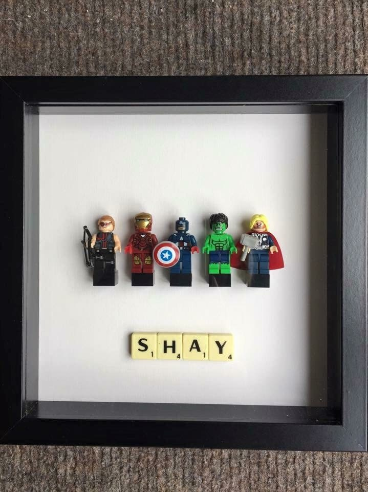 Customised Superhero Lego Frames Marvel DC Avengers