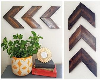 Reclaimed Wood- Wooden Arrow Art Wall Hanging 3 Piece Set