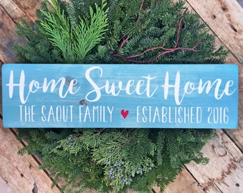 Home Sweet Home, Family Name Signs, Custom Name Sign, Personalized Name Sign, Established Signs, Personalized Sign, Wedding Gifts