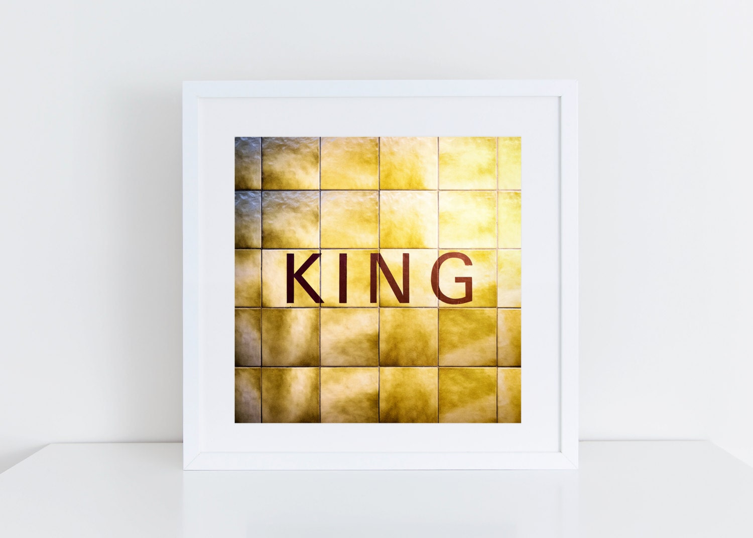 Toronto King Subway Sign Print King Station Retro Square | Etsy