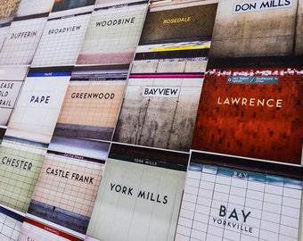 Save Over 15% - Choose Three Toronto Subway Sign Prints - Large Toronto Wall Art Set and Subway Decor for NUMTOTs