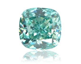 0.12ct Fancy Vivid Blue Loose Diamond Princess Cut Color Enhanced VS clarity