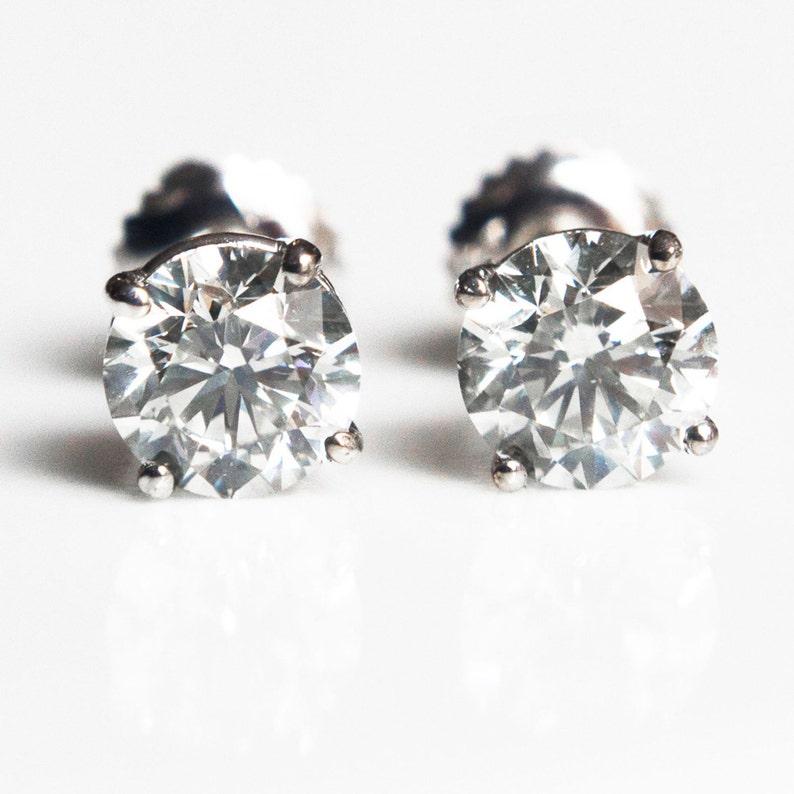 2 Carat Diamond Stud Earrings Diamond Stud Earrings For  f82a3a2e36