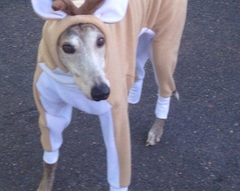 Reindeer Greyhound Costume Reindeer custom sized
