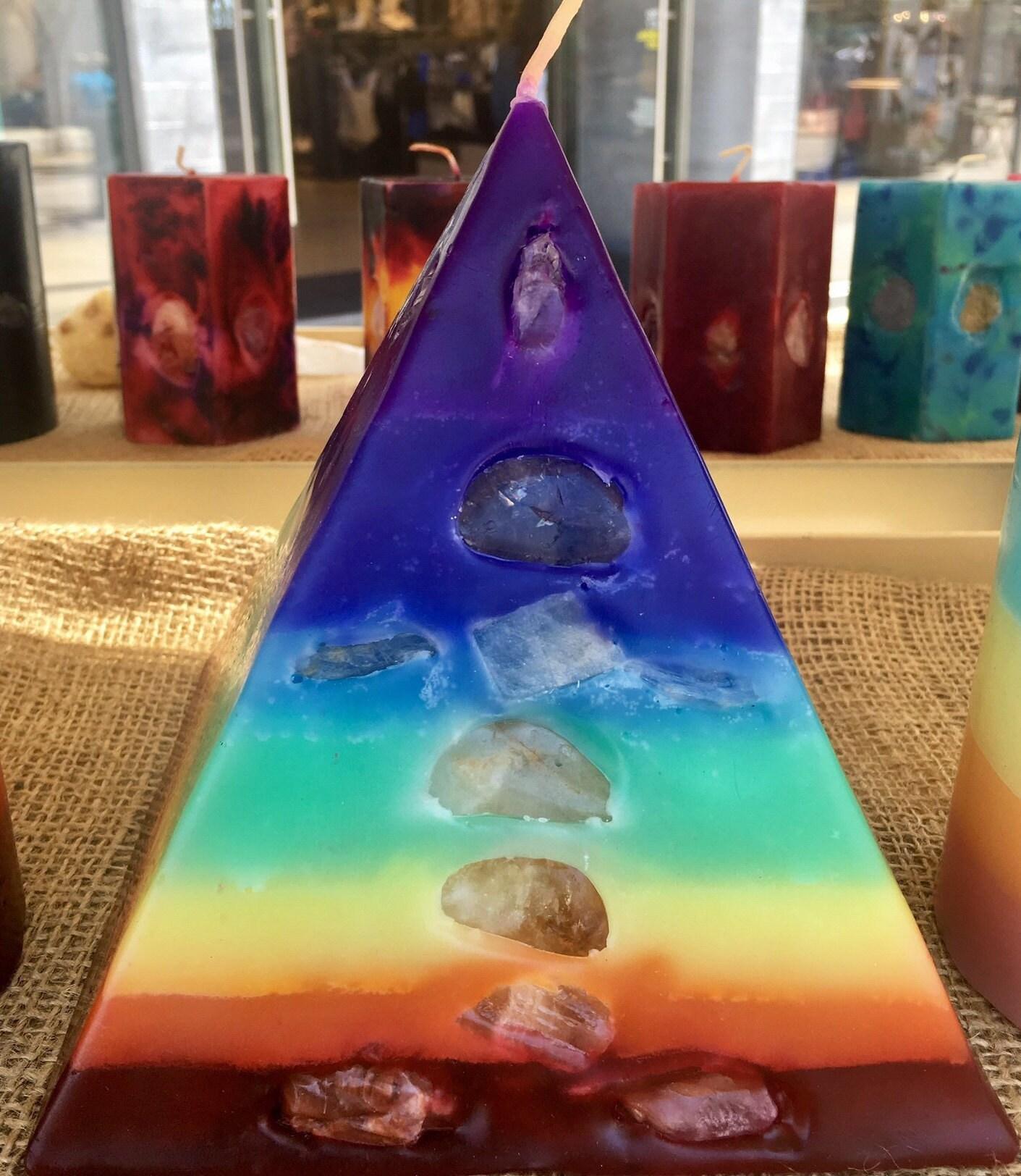 7 Layer Chakra Pyramid Healing Crystals