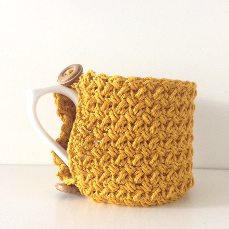 Crochet Cotton Mug Hug  Cotton Mug Cosy image 0