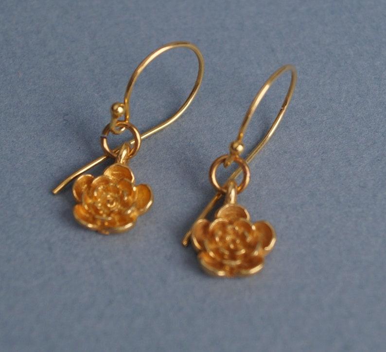 Flower Design 24k Gold Filled Sterling Silver Bali Filigree Etsy
