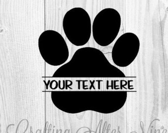 Paw Print Svg Cut Files Svg Files Vet Png Image Pawprints Etsy