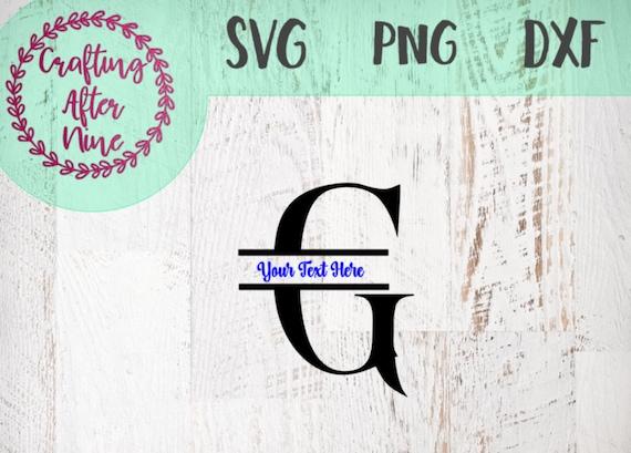 Split Monogram Font Svg Monogram Letter G Monogram Svg Etsy