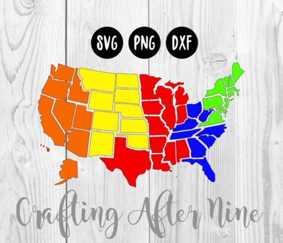 50 Individual States SVG USA Svg United States of America   Etsy