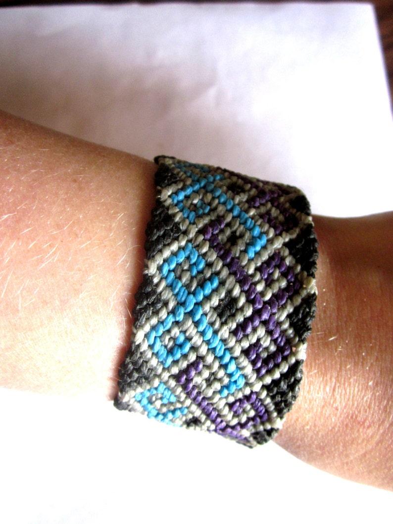 Celtic Swirl Heart Woven Friendship Bracelet