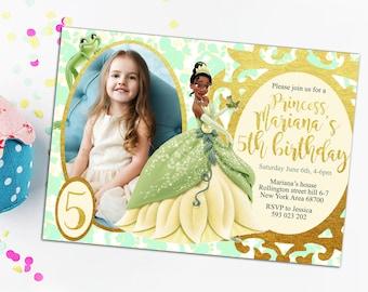 Tiana invitation etsy princess tiana invitation the princess and the frog invitation tiana birthday invitation princess tiana printable tiana personalized invite filmwisefo