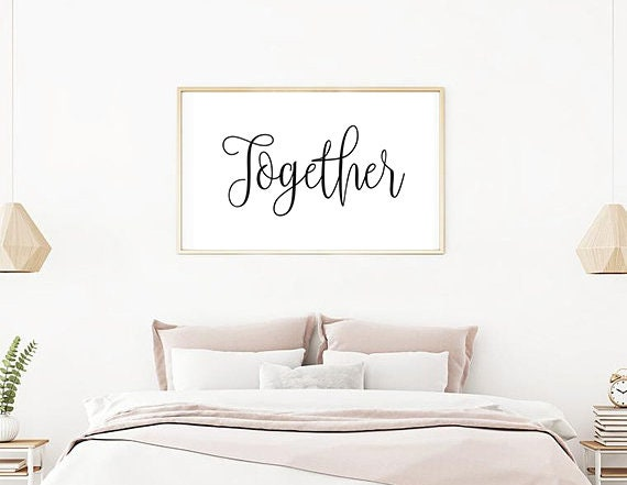 Couple Bedroom Wall Decor Romantic Wall Art Together Print   Etsy
