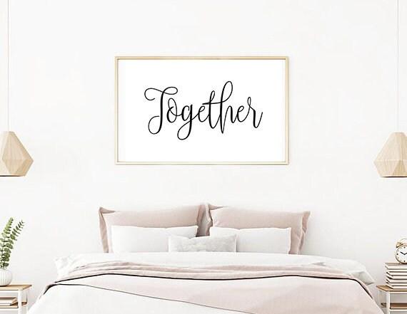 Couple Bedroom Wall Decor Romantic Wall Art Together Print