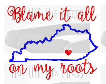 Blame It All On My Roots SVG, DXF Files For Silhouette, For Cricut, Vector Cutting Files Vinyl Decal
