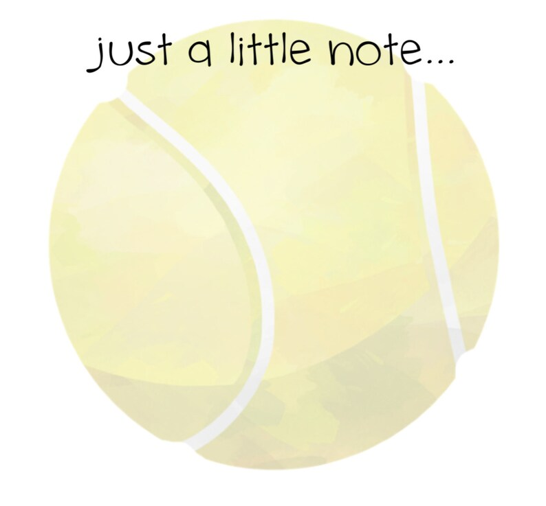 Just a little note... 100 sheets Tennis Notepad