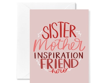 Every Day Spirit  Watercolor Friendship Card For Her  Floral Friend Card  Girlfriend Birthday Card  Friend Encouragement Card