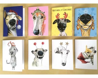 Dog Holiday Card Etsy