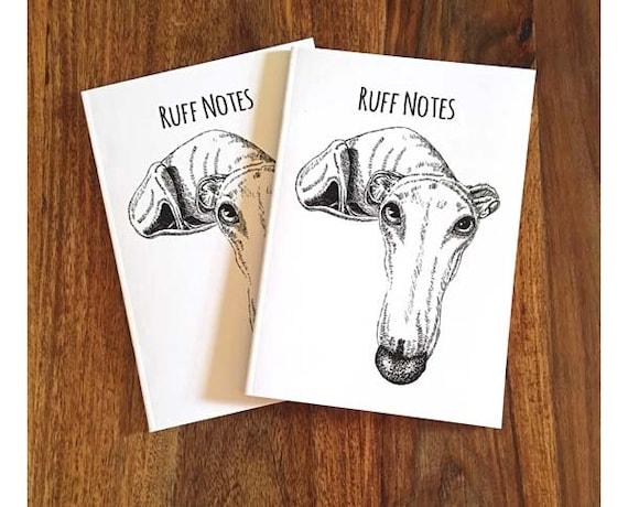 Dog Gift Dog Stationary Dog Notebook Plain Paper Eco Notebook Whippet Notebook Dog Journal Dog Notepad Greyhound Gift Whippet Gift