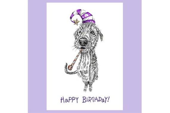 Hund Grusskarte Hund Karte Alles Gute Zum Geburtstag Karte Etsy
