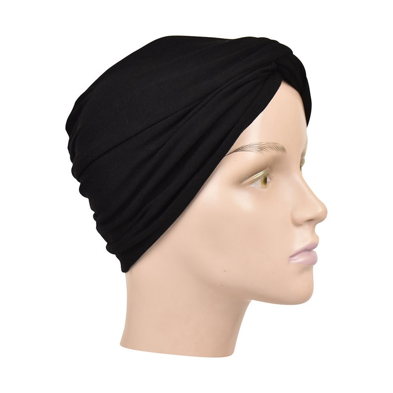Modest Knit Headwrap Black Hair Accessories