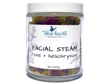 Rose & Helichrysum, Face Steam, Herbal Facial Steam, Organic Facial Steam, Botanical Steam