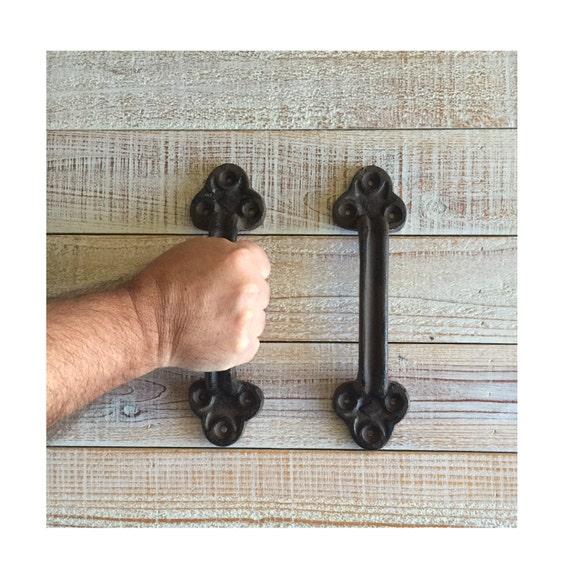 Barn Door Handle Cast Iron Rustic Big Vintage Style Sold Etsy